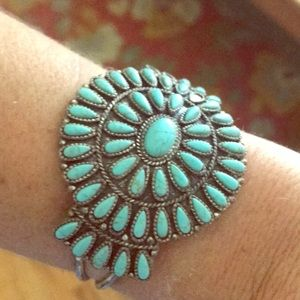 Lucky brand Navajo turquoise cuff bracelet